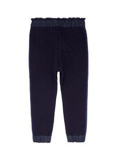 SACAI 儿童款罗缎侧条纹纯棉休闲裤