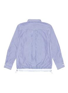 SACAI 儿童款抽绳下摆拼色条纹衬衫