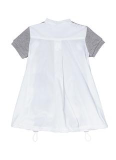 SACAI 儿童款府绸背面拼接纯棉连衣裙