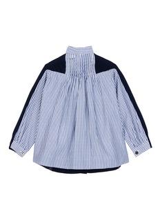SACAI 儿童款拼接设计羊毛针织外套