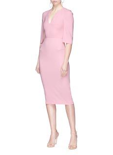 Roland Mouret 'Queensbury' cutout shoulder cape dress
