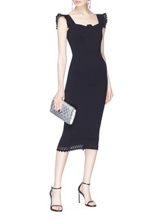 Roland Mouret 'Hotham' lace trim knit dress