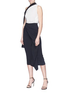 Roland Mouret 'Buneston' mock wrap drape skirt