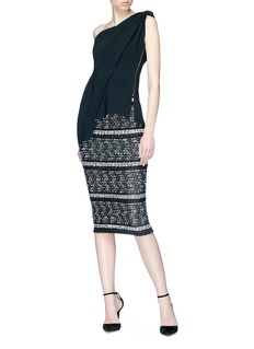 Roland Mouret 'Gunby' tweed front knit pencil skirt