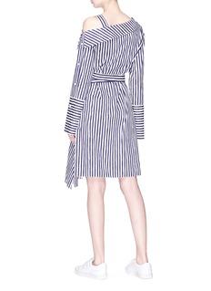 Ports 1961 Belted stripe print asymmetric shirt dress