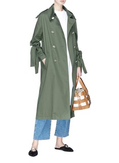 PORTSPURE Tie cuff trench coat