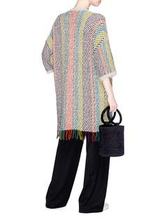PORTSPURE Colourblock stripe cardigan