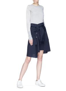 Ports 1961 Mock shirt wrap stripe skirt