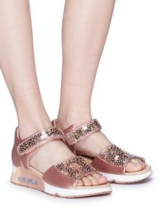 Ash 'Lotus Star' paillette satin sandals