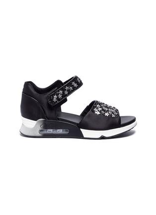 Main View - Click To Enlarge - Ash - 'Lotus Star' paillette satin sandals