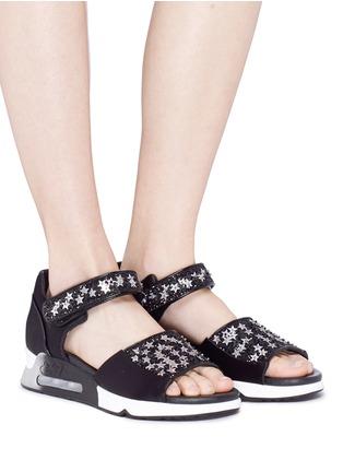 Figure View - Click To Enlarge - Ash - 'Lotus Star' paillette satin sandals
