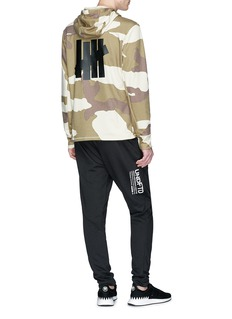 adidas X UNDEFEATED Logo camouflage print climalite® performance hoodie