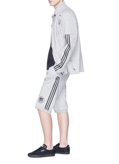 adidas x NEIGHBORHOOD 3-Sripes outseam graphic print sweat shorts