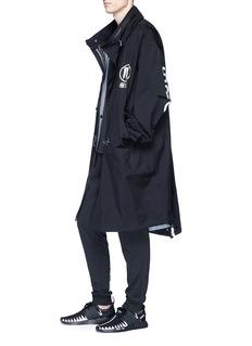 adidas x NEIGHBORHOOD 'M-51' retractable hood logo print parka