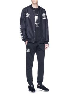 adidas x NEIGHBORHOOD Logo slogan print varsity jacket