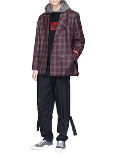 Necessity Sense 'Kin' check plaid wool-cashmere soft blazer