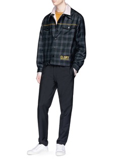 Necessity Sense 'Lou' check plaid wool-cashmere shirt jacket