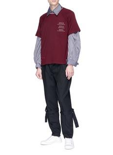 Necessity Sense 'Shin' stripe twill shirt
