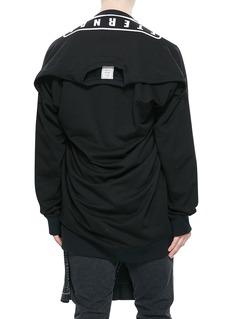 MIHARAYASUHIRO T恤拼接印花纯棉卫衣