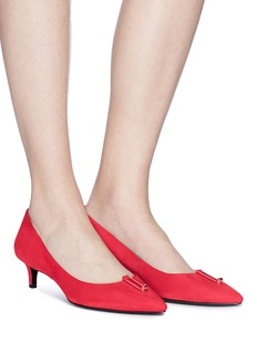 Stella Luna Turnlock bar suede pumps