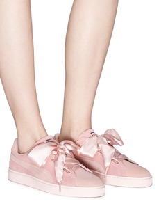 Puma 'Suede Heart Pebble' bow tie sneakers