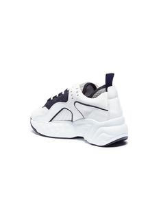 ACNE STUDIOS Manhattan绒面真皮拼接厚底运动鞋