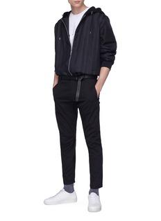 LANVIN 反光条纹品牌名称纯棉T恤