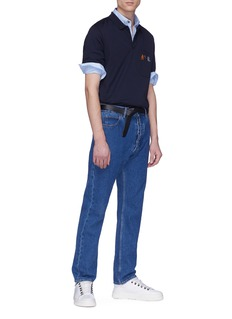 Lanvin Reflective collar trim shirt
