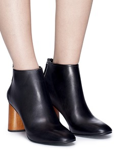 Pedder Red Wooden heel leather ankle boots