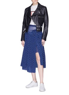 Sandy Liang Lighter polka dot print layered silk skirt