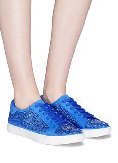 Kenneth Cole 'Kam' Swarovski crystal embellished suede sneakers