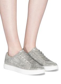 Kenneth Cole 'Kam' Swarovski crystal embellished lamé sneakers