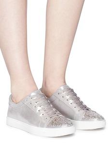 Kenneth Cole 'Kam' Swarovski crystal embellished toe cap lamé sneakers