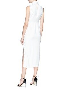 MATÉRIEL by Aleksandre Akhalkatsishvili Knot drape front high neck dress