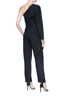 MATÉRIEL by Aleksandre Akhalkatsishvili Round buckle drape one-shoulder twill jumpsuit