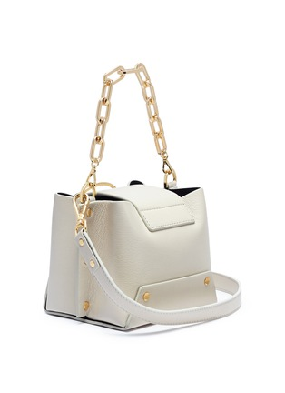 Detail View - Click To Enlarge - Yuzefi - 'Delila' oversized ring mini leather bucket bag