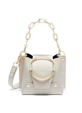 Main View - Click To Enlarge - Yuzefi - 'Delila' oversized ring mini leather bucket bag