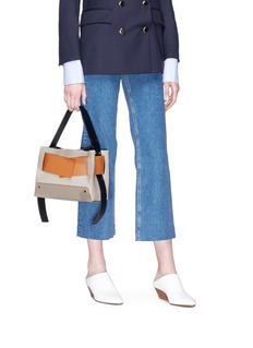 Yuzefi 'Biggy' foldover panel leather shoulder bag