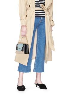 Yuzefi 'Delila' oversized ring mini leather bucket bag