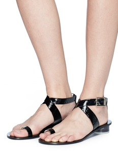 Tibi 'Hanson' cross strap patent leather sandals