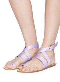 Tibi 'Hallie' strappy toe ring satin sandals