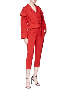Situationist 包裹式搭叠衣袖系带夹克