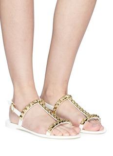 Stuart Weitzman 'Jelrose' rose stud sandals