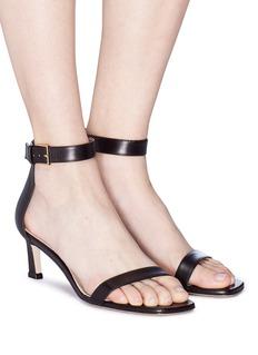 Stuart Weitzman 'Square Nudist' leather sandals