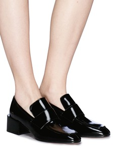 Stuart Weitzman 'Sawyer' patent leather loafer pumps