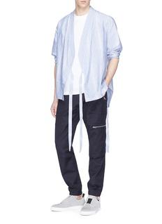SIKI IM / DEN IM Stripe kimono shirt