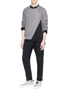 SIKI IM / DEN IM Mandarin collar cargo pocket shirt