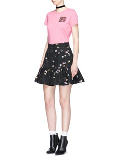 Marc Jacobs Licorice lamé jacquard peplum mini skirt