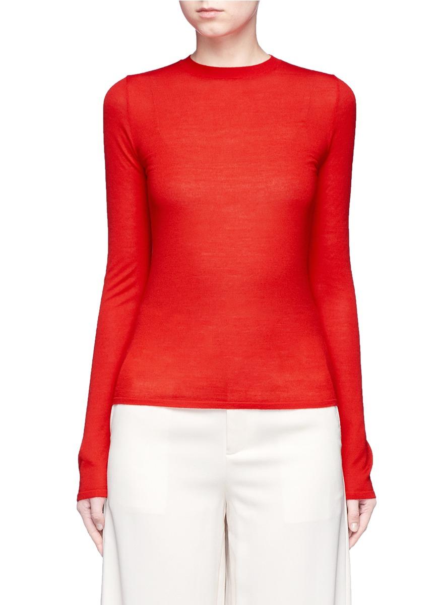 Fine wool knit sweater by Ms MIN