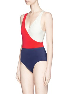 Solid & Striped 'The Ballerina' colourblock one-piece swimsuit